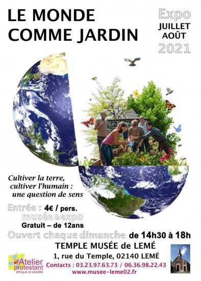 Affiche expo jardins leme 2021
